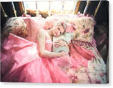 Vintage Val Bedroom Dreams Canvas Print by Jill Wellington
