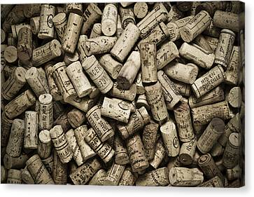 Cellar Canvas Print - Vintage Wine Corks by Frank Tschakert