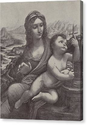 Virgin And Child Canvas Print by Leonardo Da Vinci
