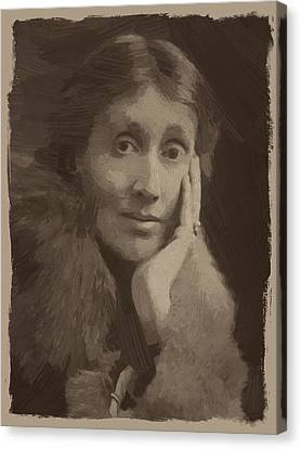Quote Canvas Print - Virginia Woolf by Afterdarkness