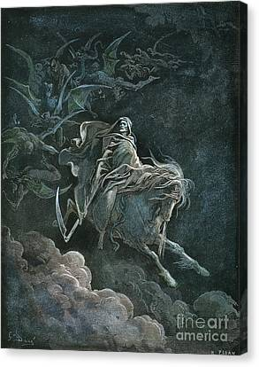 Vision Of Death Canvas Print by Granger