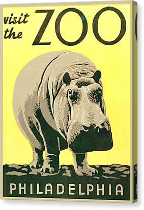 Visit The Zoo Canvas Print by Unknown