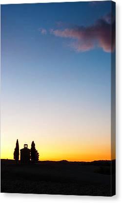 Tuscan Sunset Canvas Print - Vitaleta Chapel by Yuri Santin