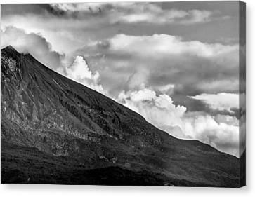 Canvas Print featuring the photograph Volcano by Hayato Matsumoto