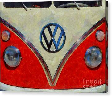 Volkswagon Canvas Print - Volkswagon Pop Art by Sarah Kirk