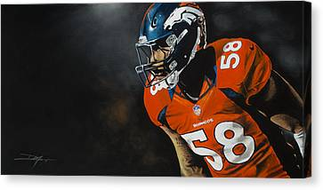 Canvas Print - Von Miller by Don Medina