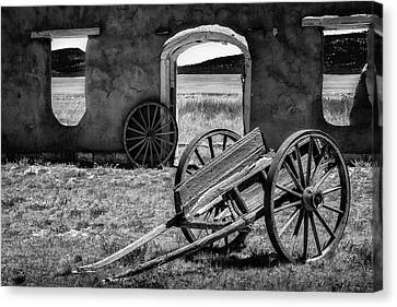 Wagon Wheels In Bw Canvas Print by James Barber