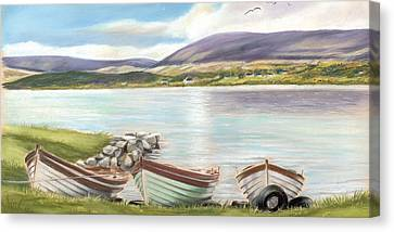 Waiting For The Mayfly Canvas Print by Vanda Luddy