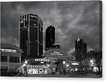 Wake Up Bw Tower Place 100 Buckhead Atlanta Art Canvas Print by Reid Callaway