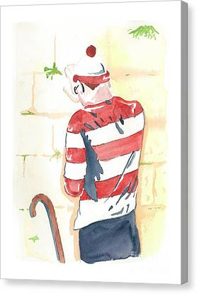Kotel Canvas Print - Waldo Finds Himself by Anshie Kagan