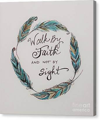 Walk By Faith Canvas Print by Elizabeth Robinette Tyndall