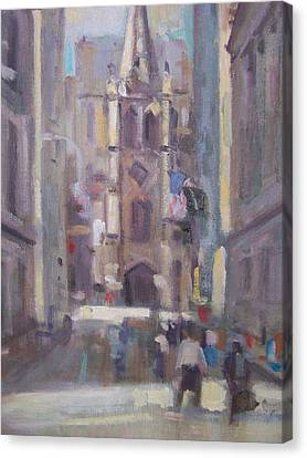 Wall St Canvas Print