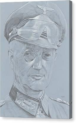 Ww Ii Canvas Print - Walter Model by Dennis Larson