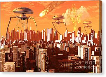 War Of The Worlds Canvas Print by Mark Stevenson