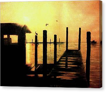 Warm Waters Canvas Print by Travis  Ragan