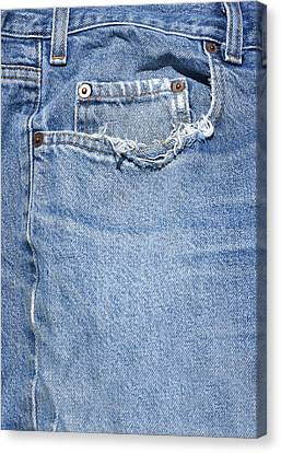 Worn Jeans Canvas Print by George Robinson