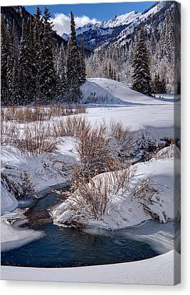 Wasatch Mountains In Winter Canvas Print by Utah Images