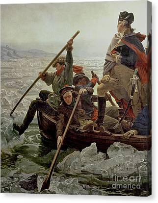 Washington Crossing The Delaware River Canvas Print