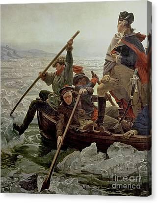 1848 Canvas Print - Washington Crossing The Delaware River by Emanuel Gottlieb Leutze