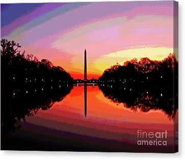 Washington Monument Sunrise Canvas Print