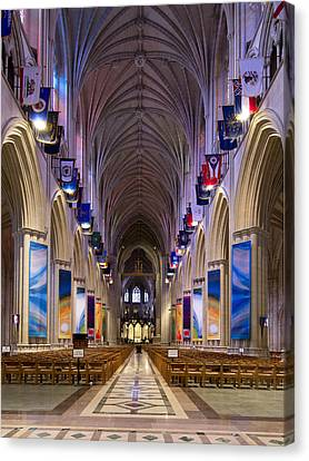 Washington National Cathedral - Washington Dc Canvas Print by Brendan Reals