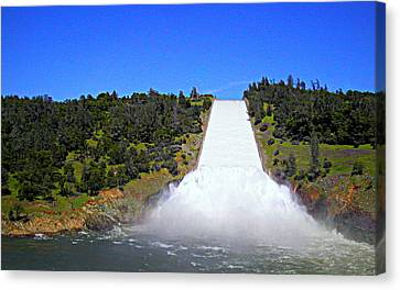 Canvas Print featuring the photograph Water by AJ Schibig