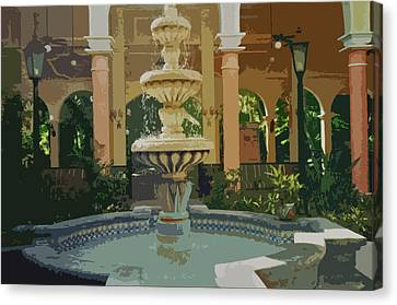 Canvas Print featuring the digital art Water Fountain In Mexico by Tammy Sutherland