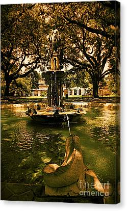 Water Fountain Canvas Print by Janice Spivey