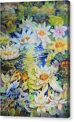 Water Garden Canvas Print by Ann  Nicholson