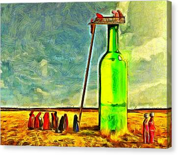 Water Source - Van Gogh Style Canvas Print