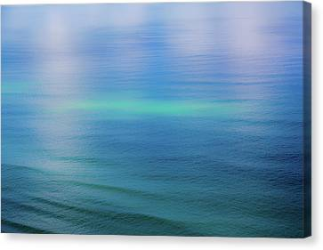 Northern Lights Ocean Abstract Canvas Print