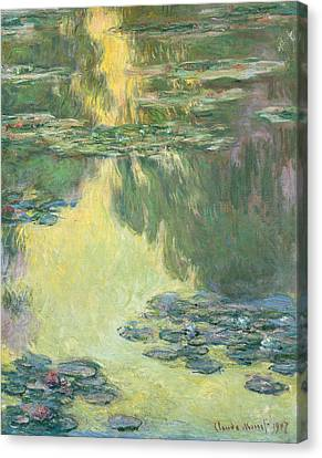 Waterlily Canvas Print - Waterlilies 1907 by Claude Monet