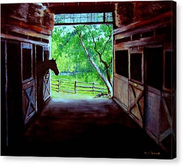 Water's Edge Farm Canvas Print by Jack Skinner