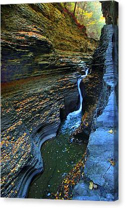 Watkins Glen Gorge Canvas Print by Jessica Jenney