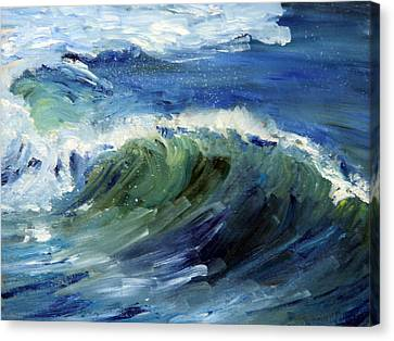 Wave Action Canvas Print by Michael Helfen