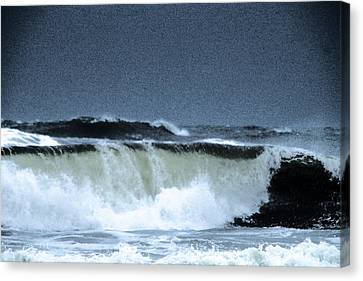 Waves Rolling In Canvas Print by Jeff Swan