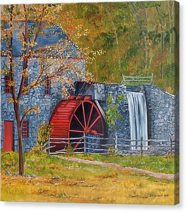 Wayside Inn Grist Mill Canvas Print by Jean-Pierre Ducondi