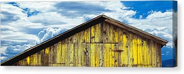 Weathered Wooden Barn, Gaviota, Santa Canvas Print by Panoramic Images