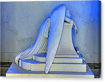 Tomb Canvas Print - Weeping Angel by Ellis C Baldwin