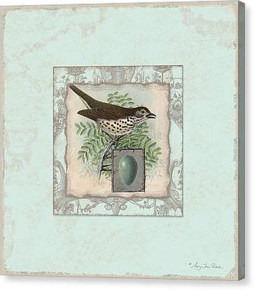 Welcome To Our Nest - Vintage Bird W Egg Canvas Print by Audrey Jeanne Roberts