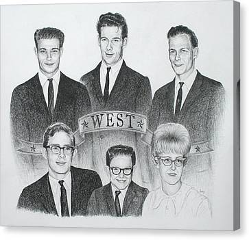 Canvas Print featuring the drawing West by Mike Ivey