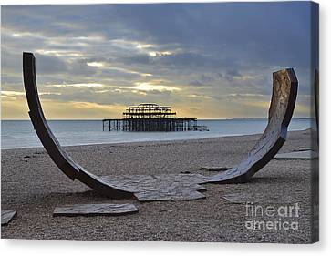 West Pier Brighton Canvas Print by Nichola Denny
