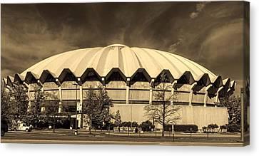 West Virginia University Coliseum Canvas Print