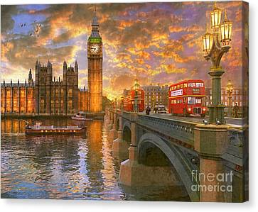 Westminster Sunset Canvas Print