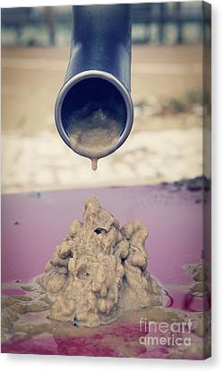 Wet Sand Drain Canvas Print