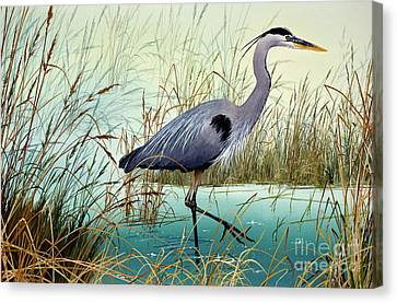Canvas Print featuring the painting Wetland Beauty by James Williamson