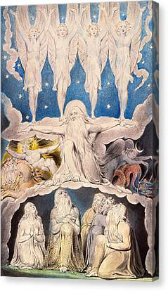 When The Morning Stars Sang Together Canvas Print by William Blake