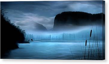 Canvas Print featuring the photograph While You Were Sleeping by John Poon