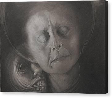 Podszepty - Szkic Canvas Print