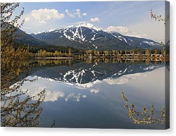 Whistler Blackcomb Green Lake Reflection Canvas Print by Pierre Leclerc Photography
